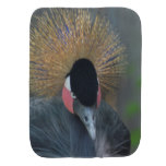 Curious African Crowned Crane Baby Burp Cloth