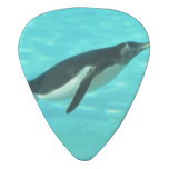 Penguin Swimming Underwater Guitar Pick