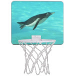 Penguin Swimming Underwater Mini Basketball Hoop
