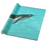 Penguin Swimming Underwater Wrapping Paper