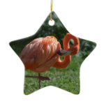 Perfect Pink Flamingo Ceramic Ornament