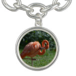 Perfect Pink Flamingo Charm Bracelet