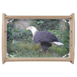 Standing American Bald Eagle Serving Tray