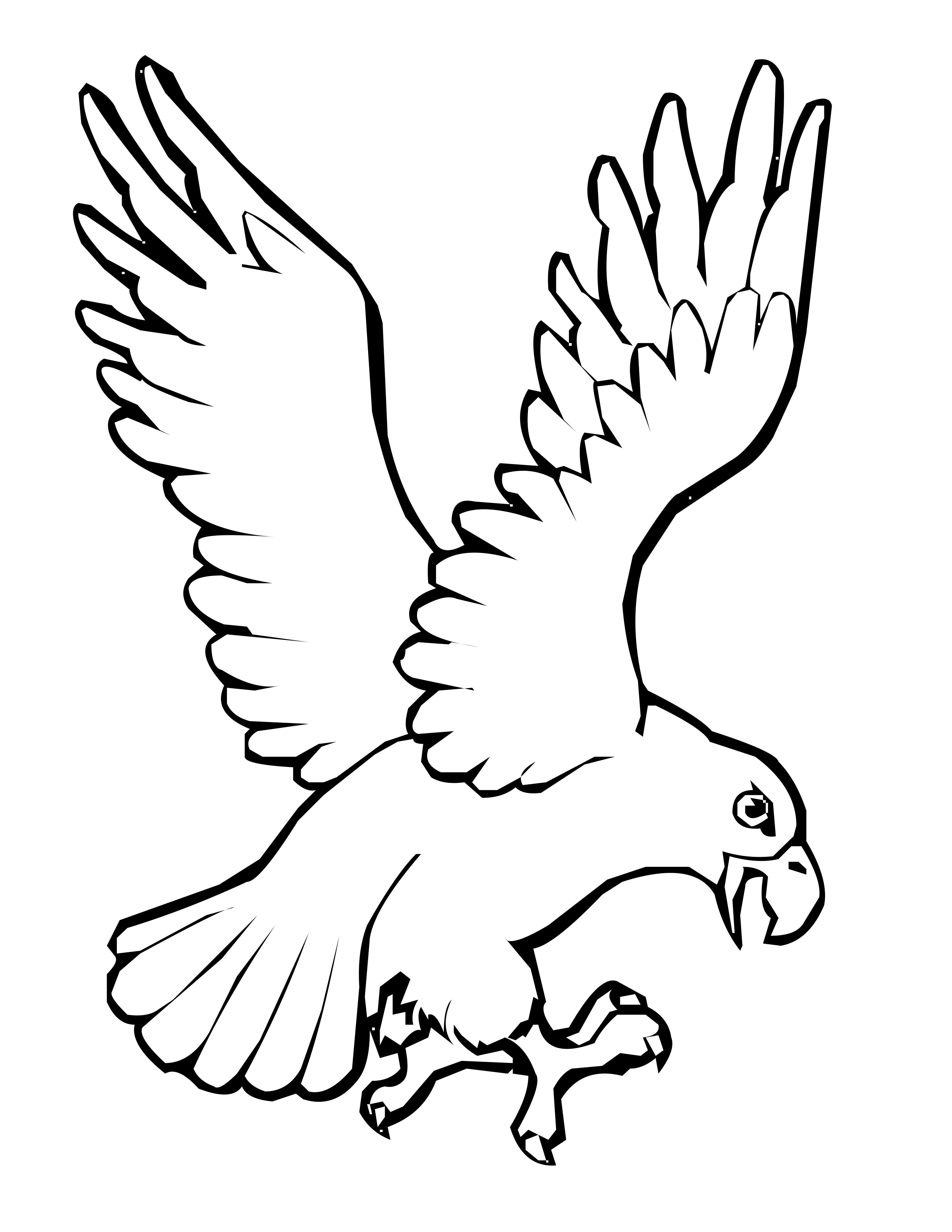 cute flying bird coloring pages