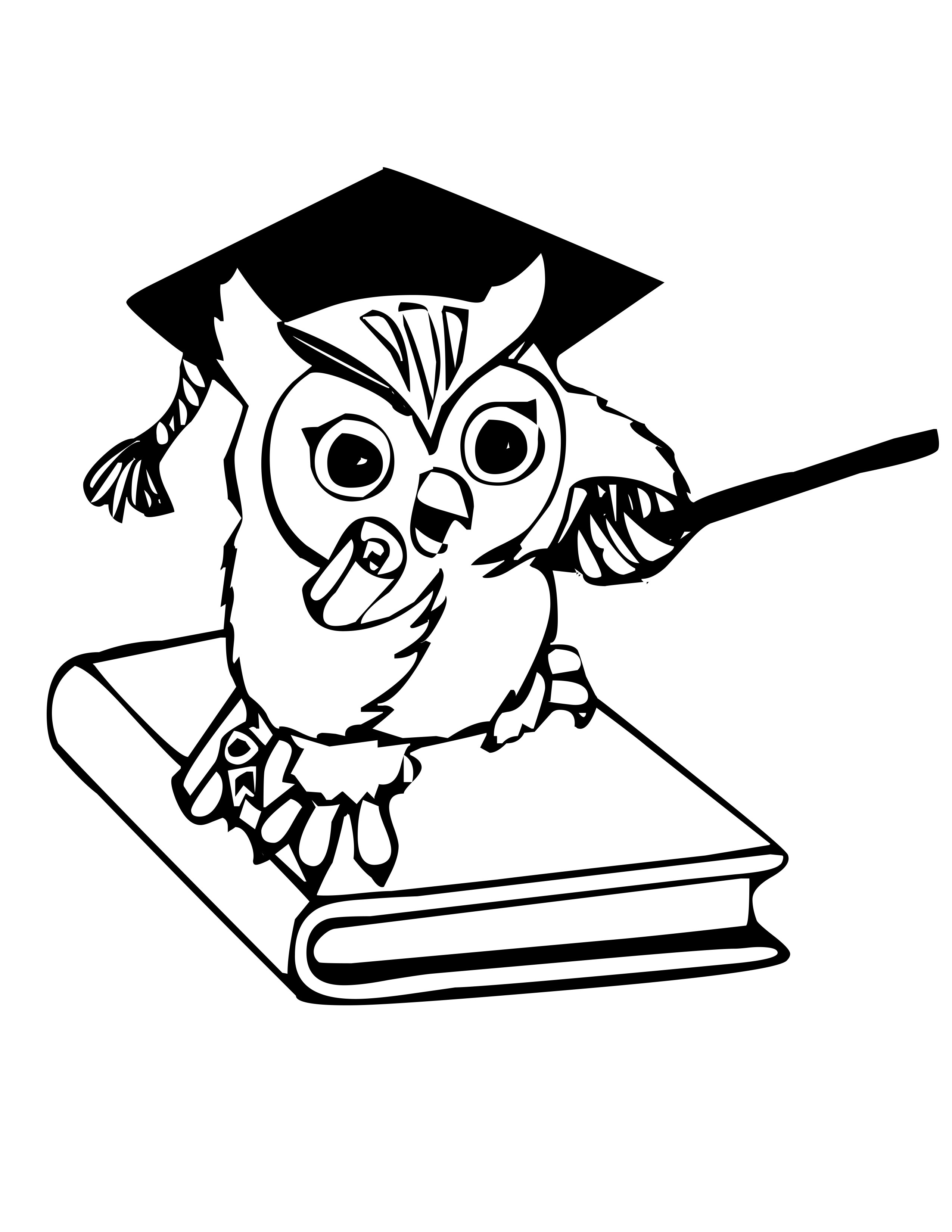 Owl Drawing Color Cute Owl Coloring Pages