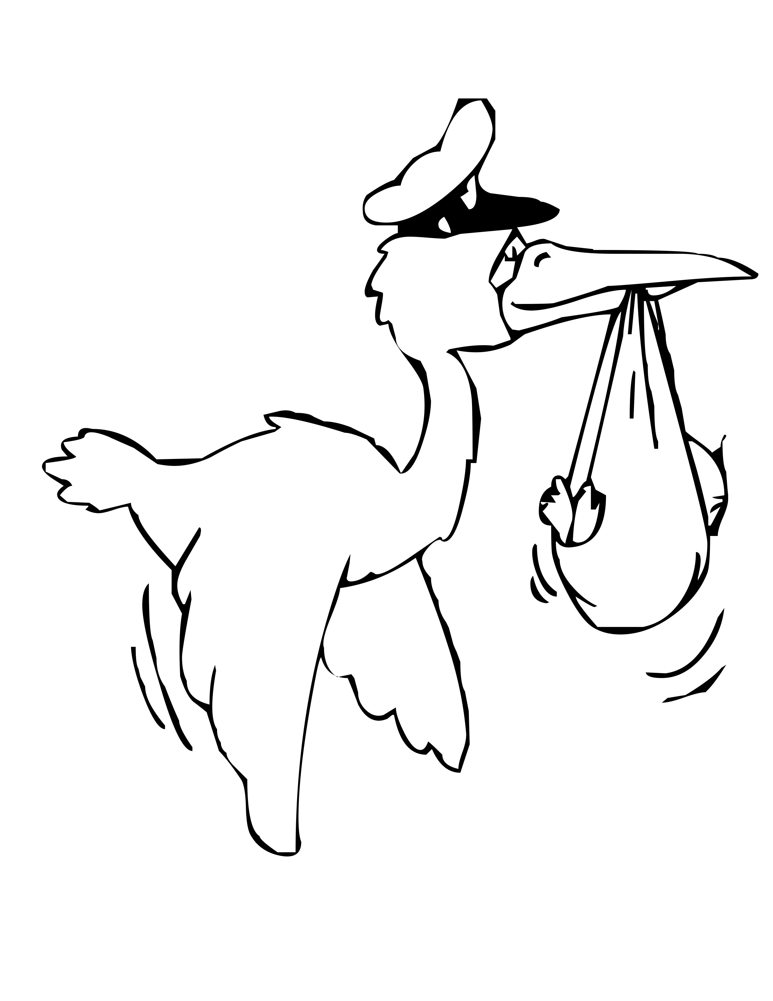 stork and baby coloring pages - photo#8